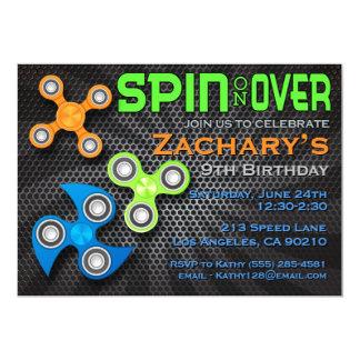 Unruhe-Spinner-Jungen-Geburtstags-Einladung Karte