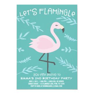 Uns gelassen Flamingle niedliche Karte