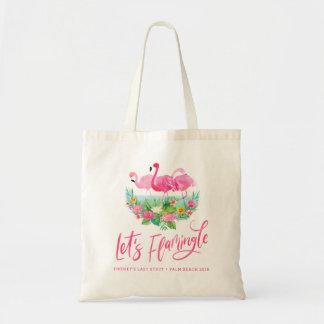 Uns gelassen Flamingle tropische Bachelorette Tragetasche
