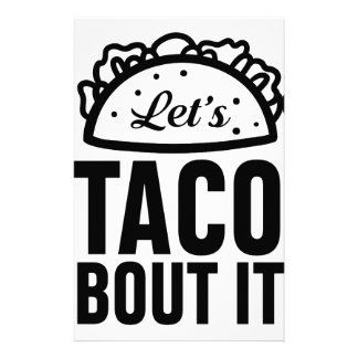 Uns gelassen Taco-Kampf es Briefpapier