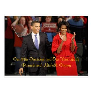 Unser 44. Präsident und unser First Lady Postkarte