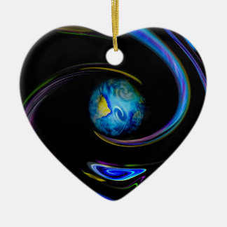 Unser blauer Planet Keramik Ornament