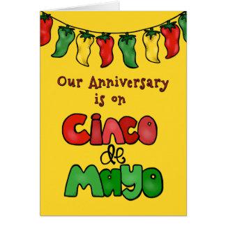 Unser Cinco De Mayo Jahrestag-Let es heiß machen! Karte