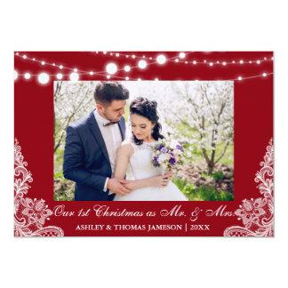 Unser erster Weihnachtsherr u. Frau Foto-Karte R Karte