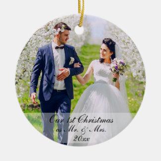 Unser erstes Weihnachten als Herr u. Frau Foto Rd Keramik Ornament