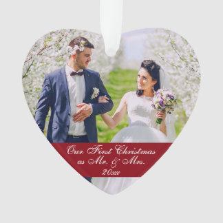 Unser erstes Weihnachten als Herr u. Frau Wedding Ornament