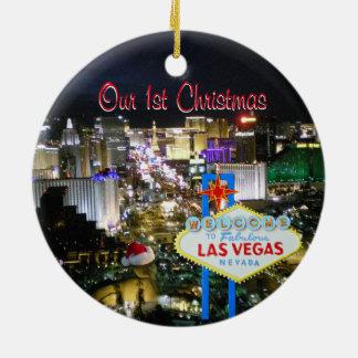 Unser erstes Weihnachten Las Vegas Keramik Ornament