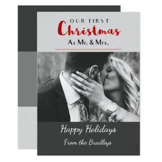 Unser erstes Weihnachtsfeiertags-Weihnachten Karte