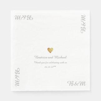 unser Hochzeits-Empfang nett Papierservietten