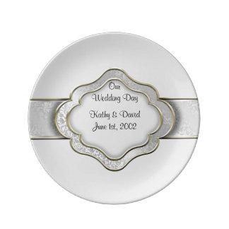 Unser Hochzeitstag (Silber) Teller Aus Porzellan