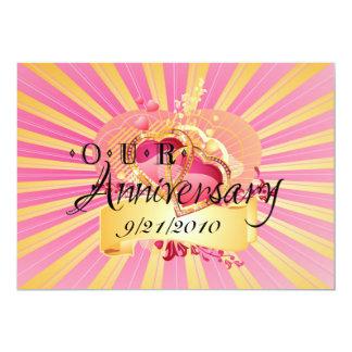 Unser Jahrestag 12,7 X 17,8 Cm Einladungskarte