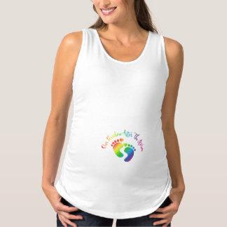 Unser Regenbogen nach dem Schwangerschafts Tank Top