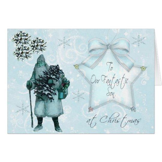 Unser Sohn am Weihnachten Grußkarte