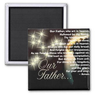 Unser Vater, der Kunst im Himmel Quadratischer Magnet