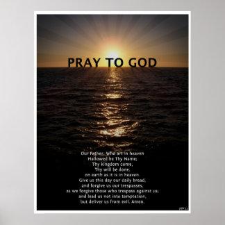 Unser Vater-Gebet Plakatdrucke