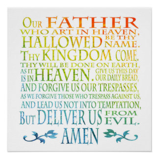 """Unser Vater-"" Gebet Poster"