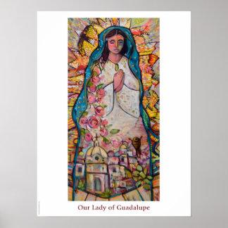 Unsere Dame des Guadalupe-Klassenzimmerplakats Poster