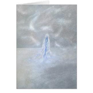 Unsere Dame des Schnees mit Gedicht Mitteilungskarte