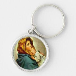 Unsere Dame des Straße gesegneten Mutter-Babys Schlüsselanhänger