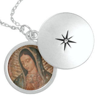 UNSERE DAME OF GUADALUPE STERLING SILBERKETTE
