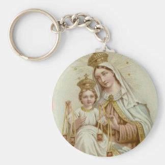 Unsere Dame vom Karmel w/scapular u. von Jesus Schlüsselanhänger