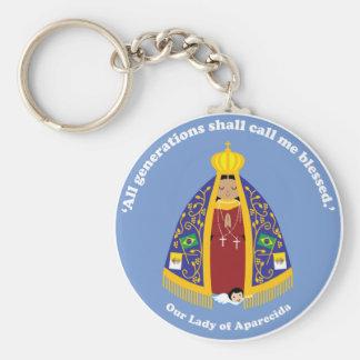 Unsere Dame von Aparecida Schlüsselanhänger