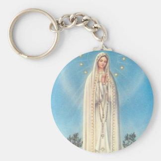 Unsere Dame von Fatima-Rosenbeet Schlüsselanhänger