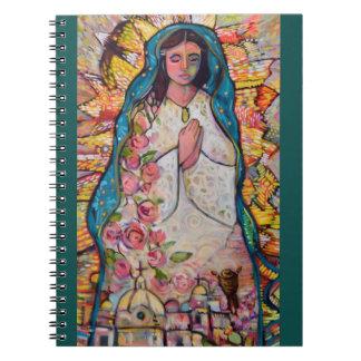 Unsere Dame von Guadalupe-Zeitschrift Spiral Notizblock