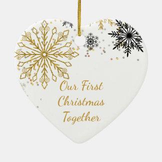 Unsere erste Weihnachtszusammen Keramik Ornament