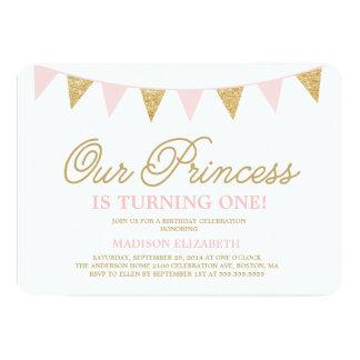 Unsere Geburtstags-Einladung Prinzessin-| 12,7 X 17,8 Cm Einladungskarte