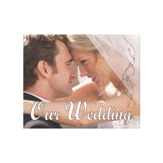 Unsere Hochzeits-Foto-Leinwand Galerie Gefaltete Leinwand