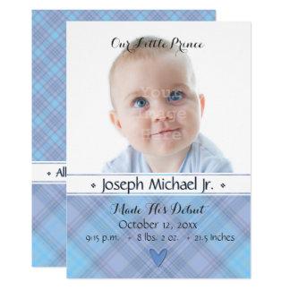 Unsere kleine Geburts-Mitteilung Prinz-Baby Karte