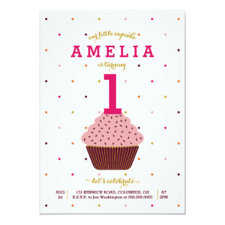 Unsere kleine Kuchen-Geburtstags-Einladung Karte