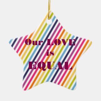 Unsere LIEBE ist GLEICHE Heirat-Gleichheit Keramik Stern-Ornament