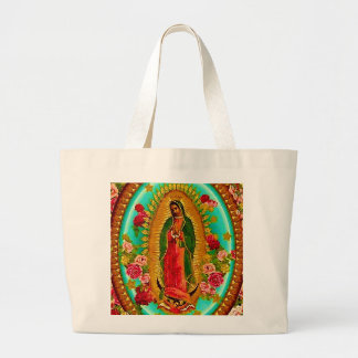 Unsere mexikanische Heilig-Jungfrau Mary Jumbo Stoffbeutel