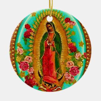 Unsere mexikanische Heilig-Jungfrau Mary Keramik Ornament