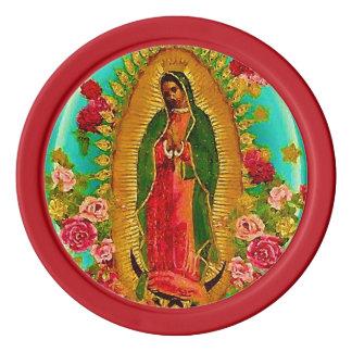 Unsere mexikanische Heilig-Jungfrau Mary Poker Chip Set