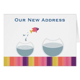 Unsere neue Adresse Karte