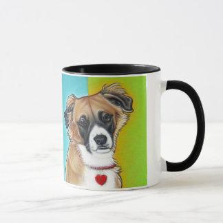 Unsinnigkeits-Pop-Kunst-Welpen-Tasse Tasse