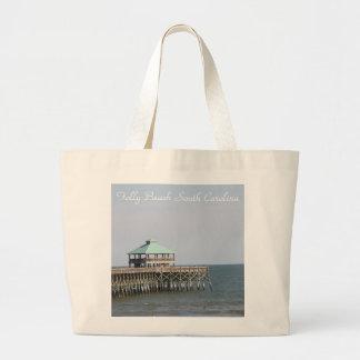 Unsinnigkeits-Strand Sc, Pier, Charleston, Jumbo Stoffbeutel