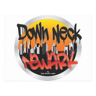 unten Hals Newark Postkarte