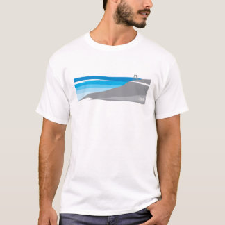 Unten Hügel-Gebirgsradfahrendes T-Shirt