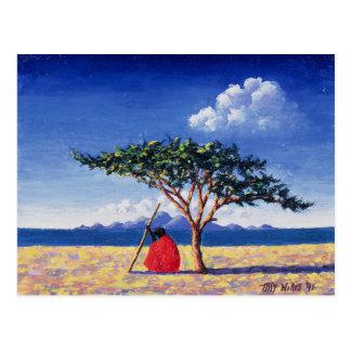 Unter dem Akazien-Baum 1991 Postkarte