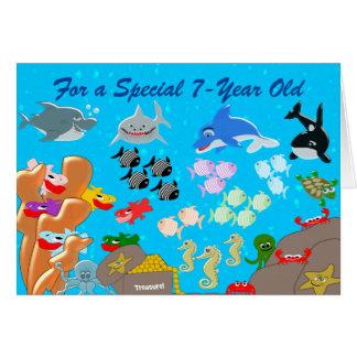 Unter dem See7. Geburtstag Karte