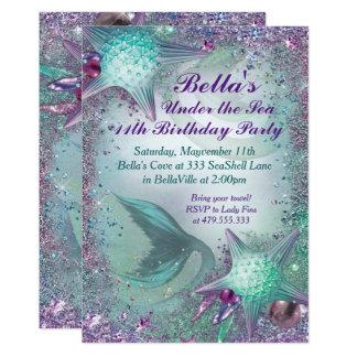 Unter den Seemeerjungfrau-Party Einladungen Karte