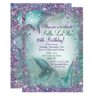 Unter den Seemeerjungfrau-Party Einladungen