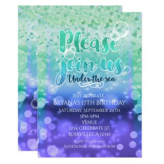 Unter den Seetropischen Ozean-Party Einladungen