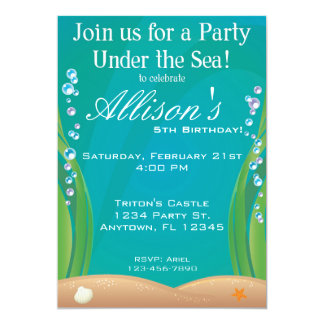 Unter der Seegeburtstags-Einladung 12,7 X 17,8 Cm Einladungskarte