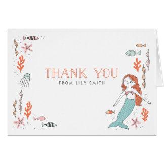 Unter der Seemeerjungfrau danke Karten