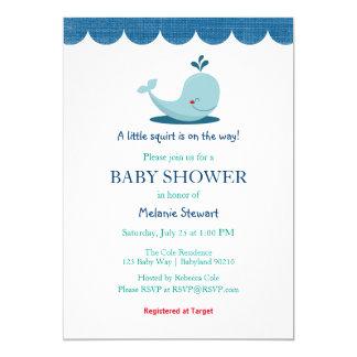 Unter der Seewal-Babypartyeinladung Karte